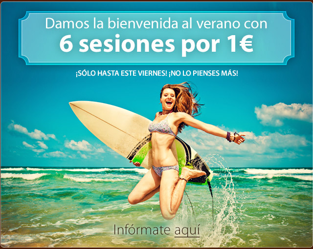 6 sesiones por 1€